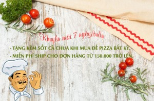 Khuyến mãi sốt cà chua, lá oregano khi mua đế pizza bất kỳ
