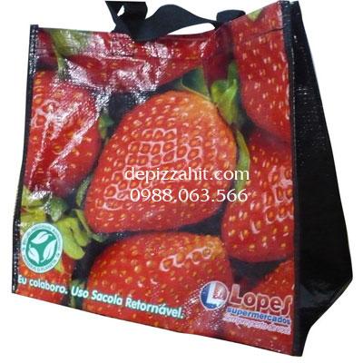 Túi siêu thị đựng hoa quả