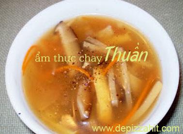 Súp chay Trung Hoa nấu chua – 30.000/bát