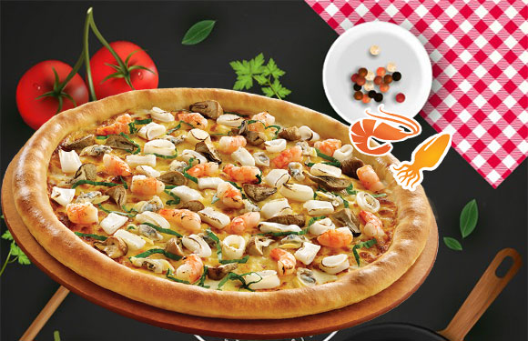 Pizza Hải sản size 23cm – 189.000