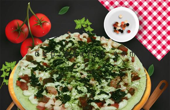 Pizza Macha hải sản size 23cm – 189.000