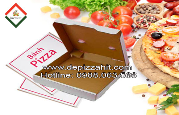Hộp pizza in sẵn 24cm của depizzahit.com