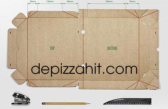 Cách làm hộp pizza tại nhà