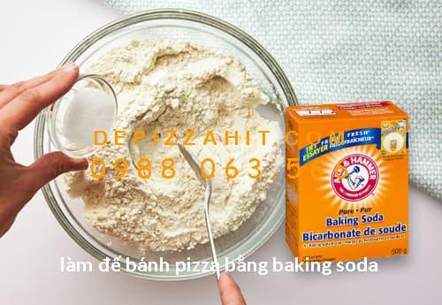 Cách làm đế bánh pizza với baking soda 1.1